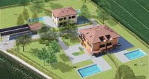 Villa con piscina e parco privato a Persiceto.