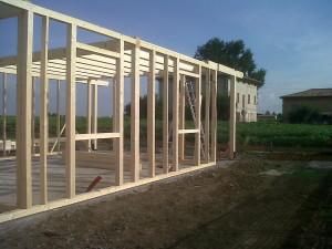 Struttura casa in legno